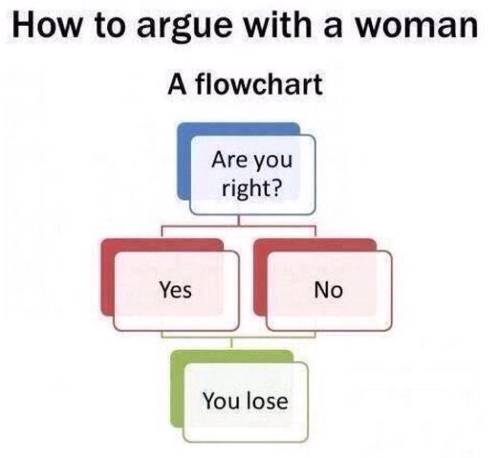 How to argue with a woman - meme