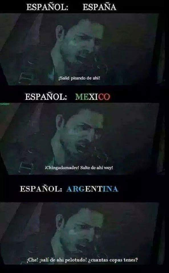 pinchi idioma mexicano y argentino :) - meme