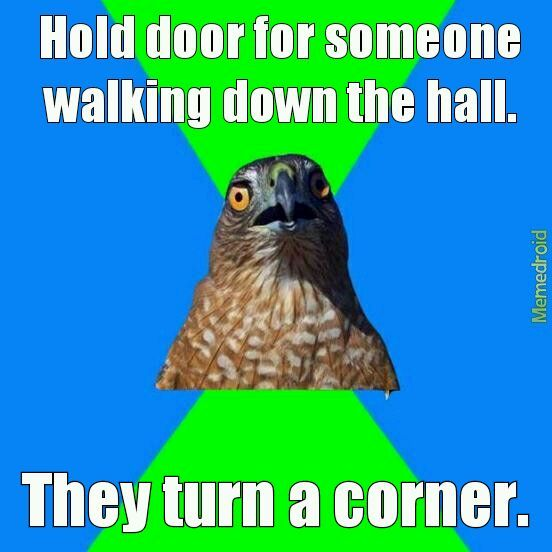 Hawkward... - meme