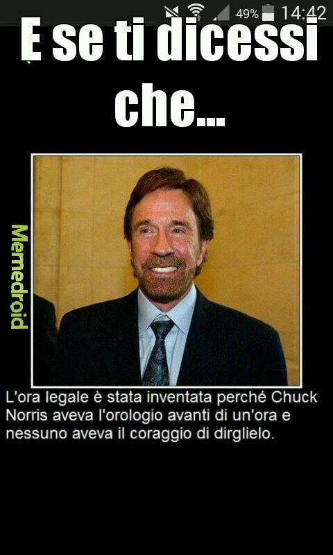 Ora legale con Chuck Norris - meme