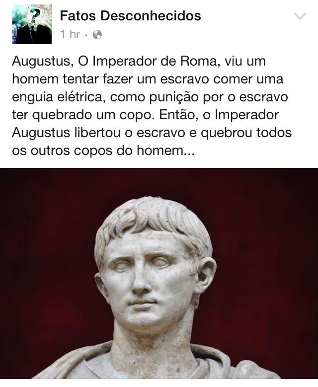 Acho que ele não era romano, era BR - meme