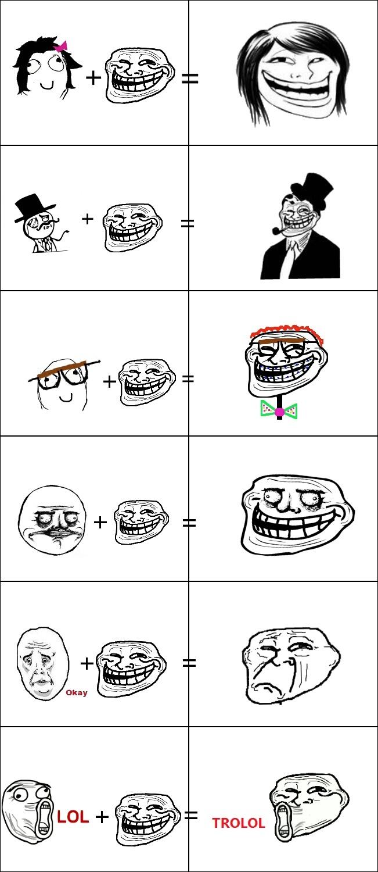 Fusiones del troll - meme
