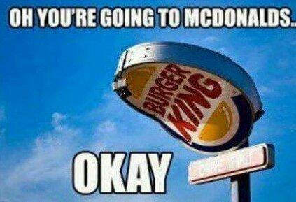 Big Mac vs The Whopper..  (follow for follow) - meme