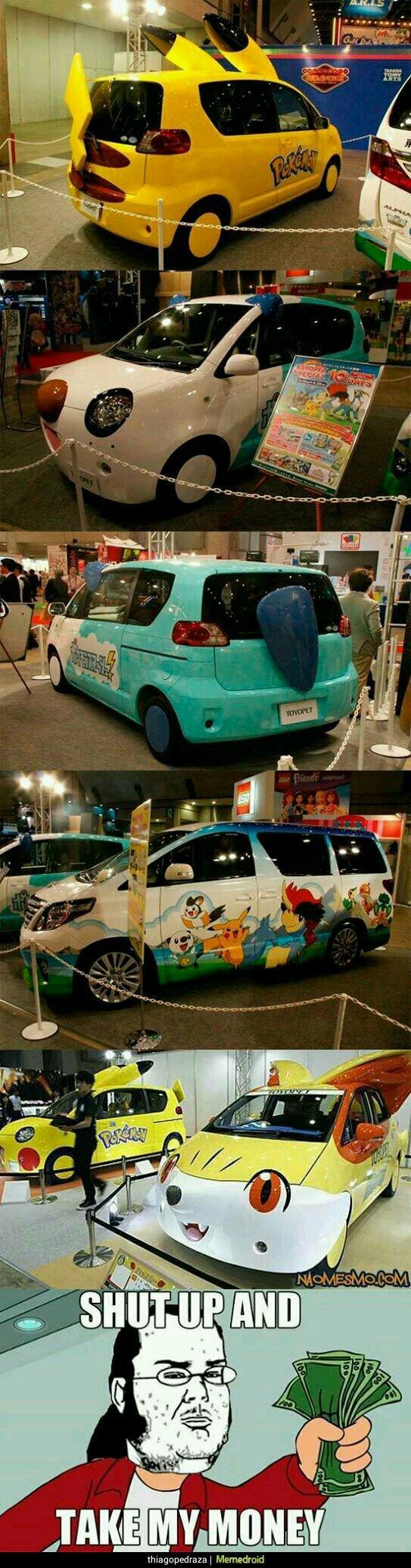 Une visite au salon de l'automobile sponsorisé par pokemon - meme