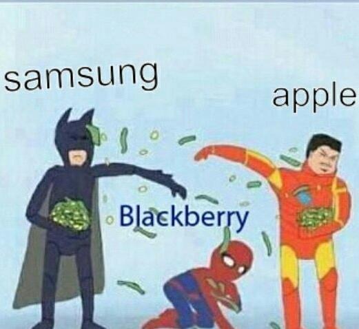 Pobre black berry - meme