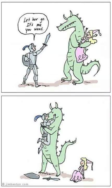 Silly dragon! - meme