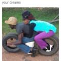 High heels on a motorcycle? Bad idea