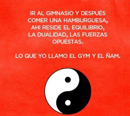 Gym y el ñam - meme