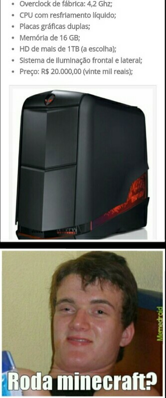 PCZin pra Minecraft  - meme