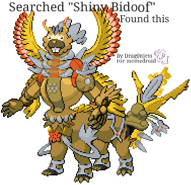 Searched shiny bidoof, found this - meme