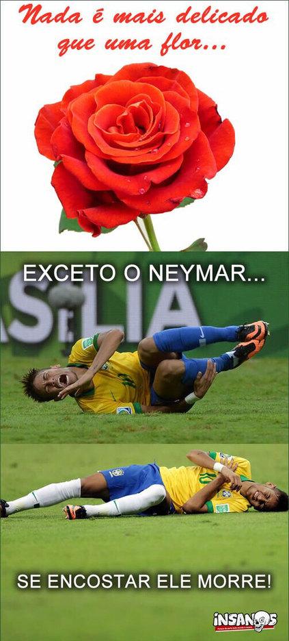 Kkkkk, neymar morre por tudo - meme