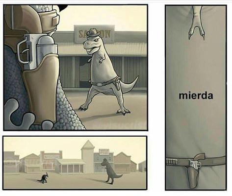 T-REX MI AMIJO :/ - meme