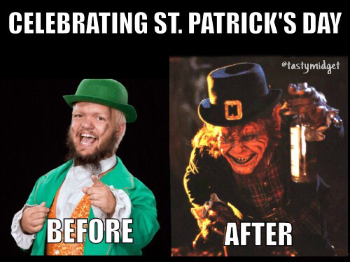 Just here waiting for St. Patrick's Day to come - meme