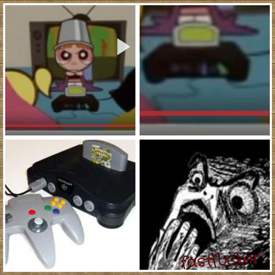 Nintendo 64 en las chicas súper poderosas - meme