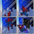 Homem aranha, homem aranha, nunca bate, sempre apanha