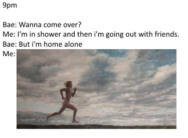 Running for bae - meme