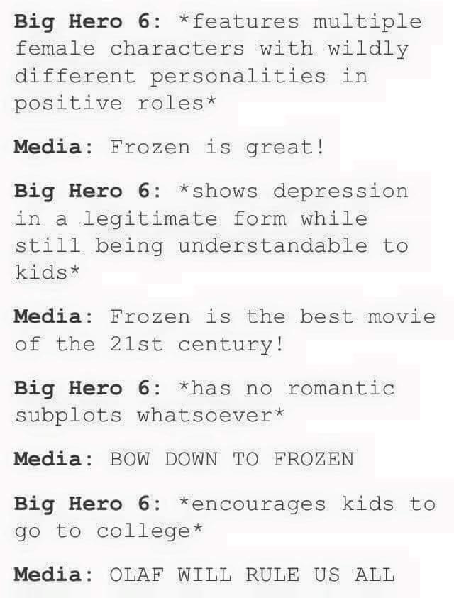 BH6 > Frozen - meme