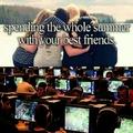 Passer l'été avec vos meilleurs amis *forever alone*yaoming*