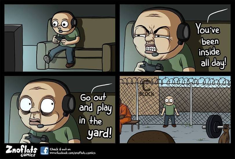 I didn't know they had Playstation in prisons - meme