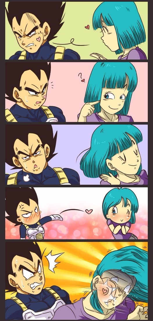 Vegeta don't know his strength - meme