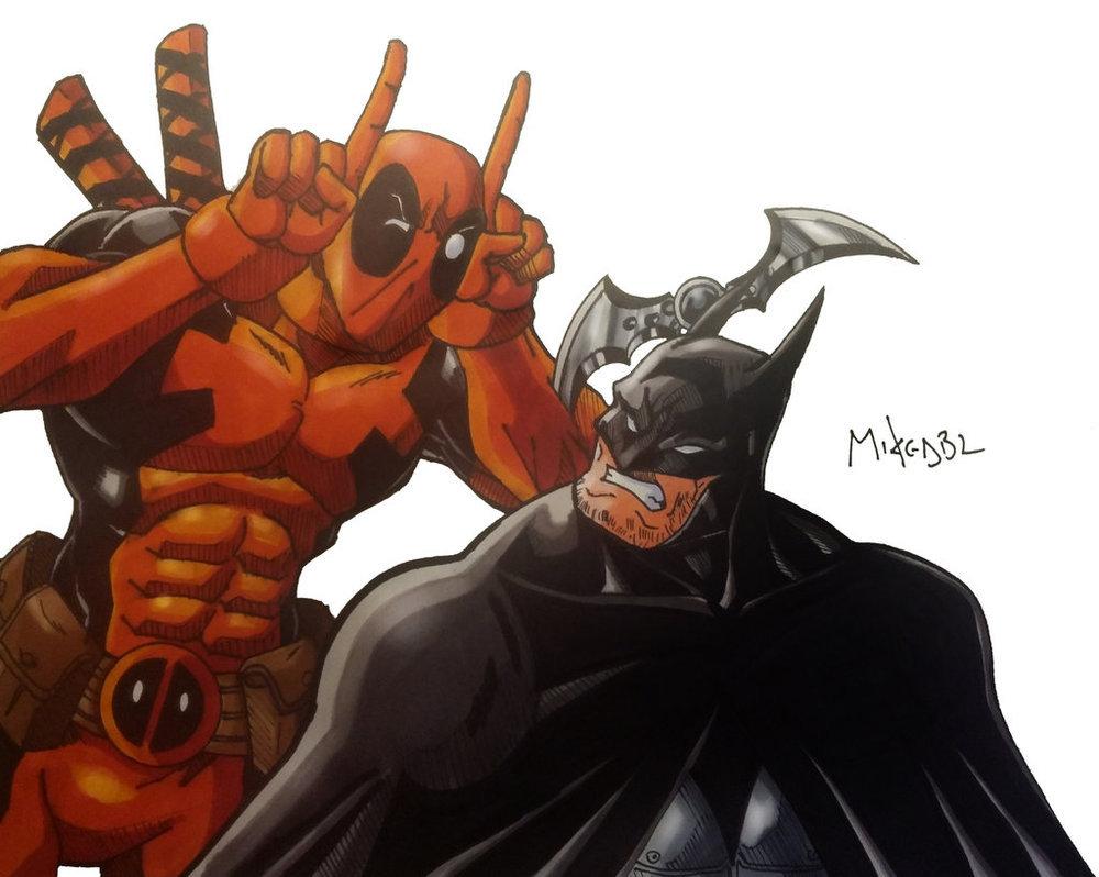 Deadpool vs batman - meme