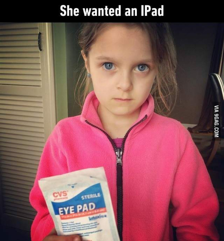 Eye Pad!!! Lol - meme