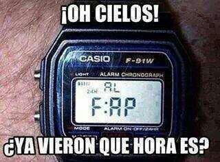 "Hora del ""Fap""  - meme"