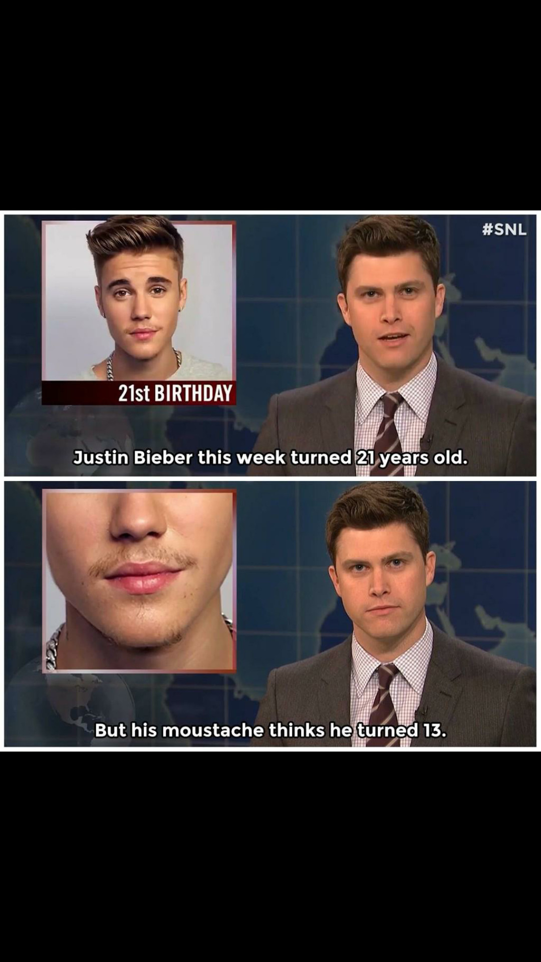 3rd comment is Justin Bieber - meme