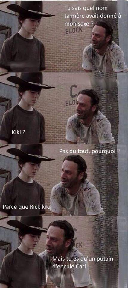 Rick et carl - meme