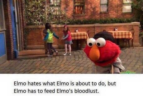 Elmo...no... - meme