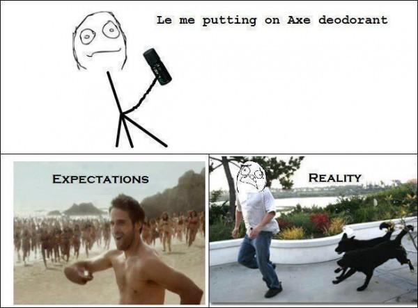 Expectations vs reality - meme