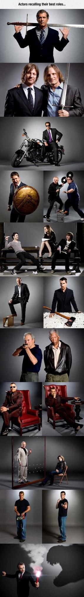 Actors recalling their best roles. - meme