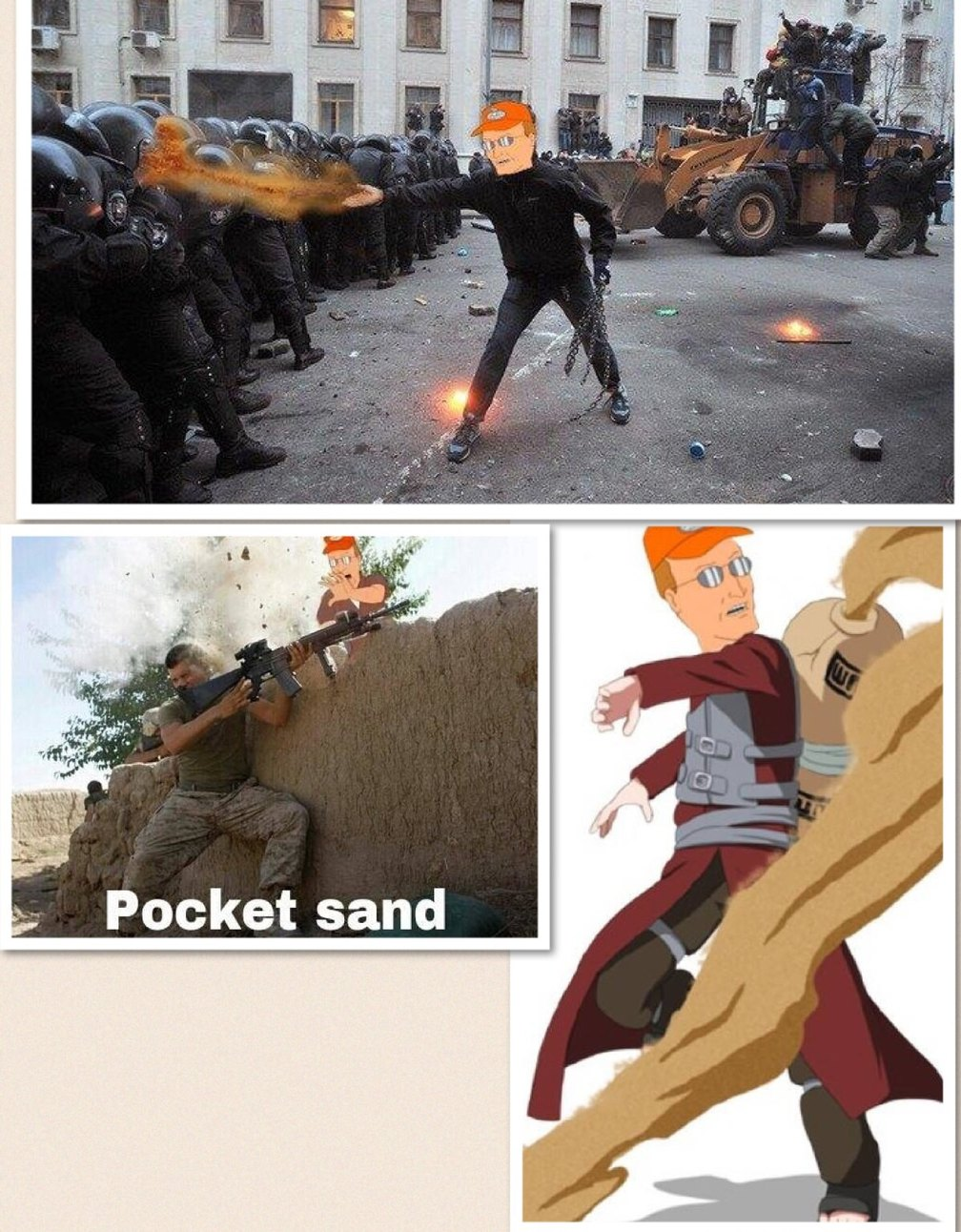 When in doubt, POCKET SAND! - meme