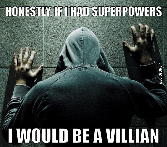 Villain or Superhero? - meme