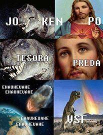 Preda papeu tresora - meme