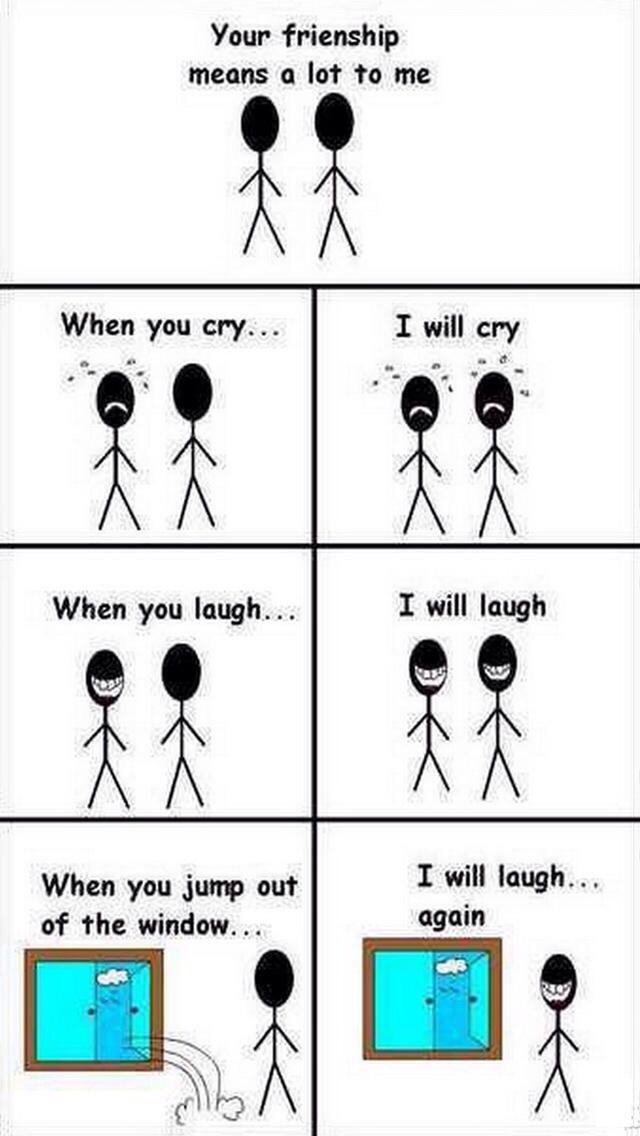 Friendships matter - meme