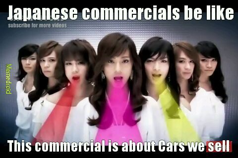 Japanese commercials - meme