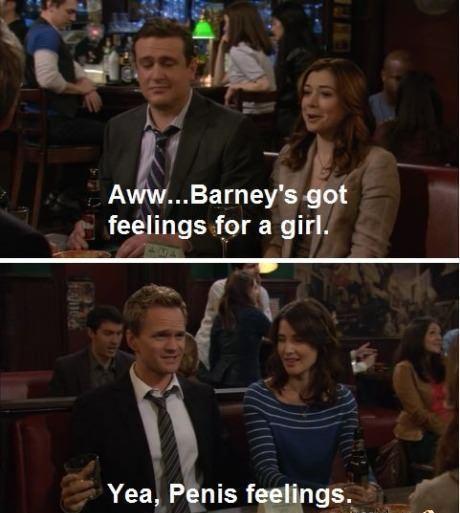 Penis feelings...Only Barney ja ja ja - meme