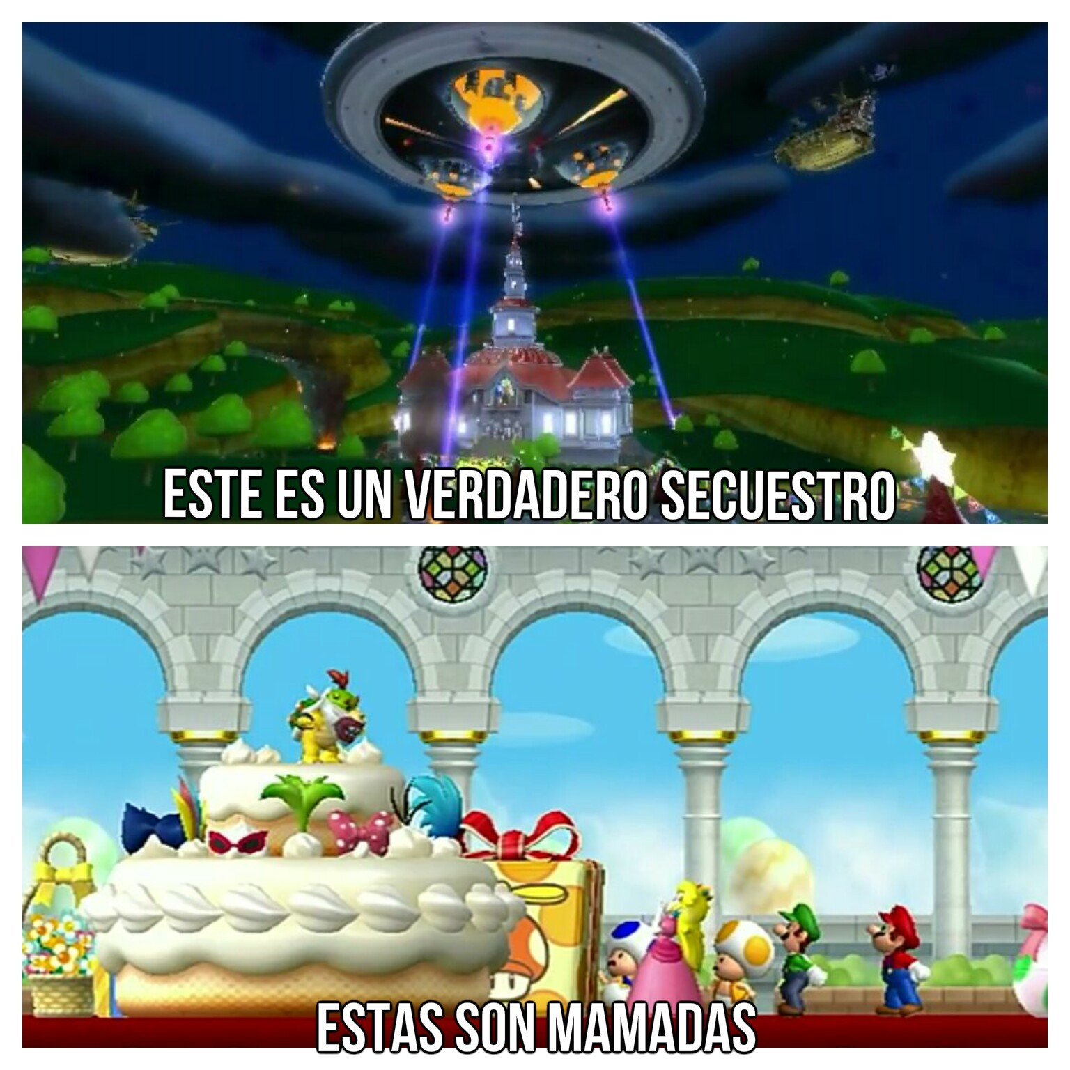 Ese Bowser y sus ideas de secuestro - meme