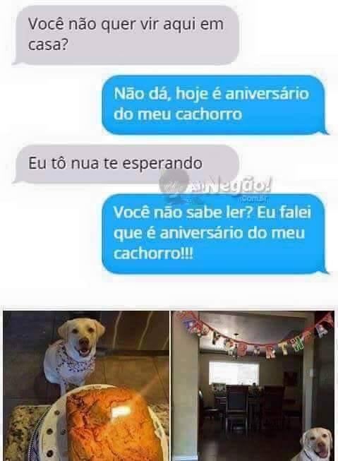 O cachorro é sagrado - meme