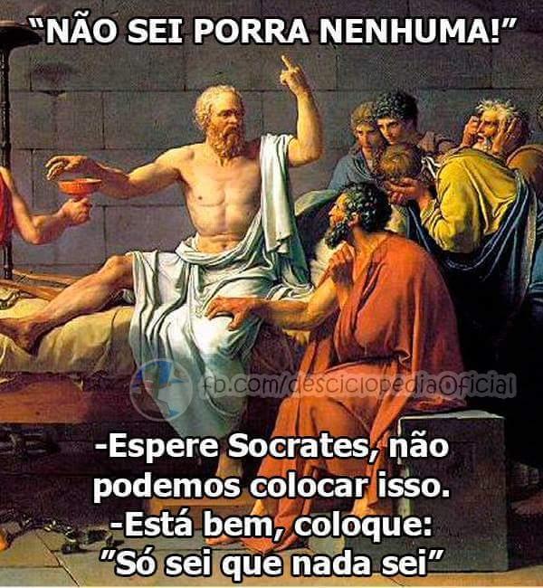 Nosso amigo Socrates - meme