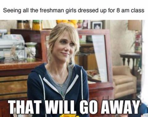 College, making people look homeless - meme
