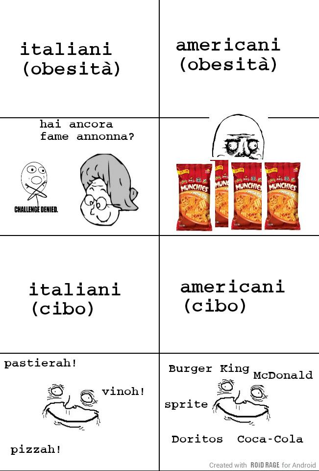 italiani e americani - meme