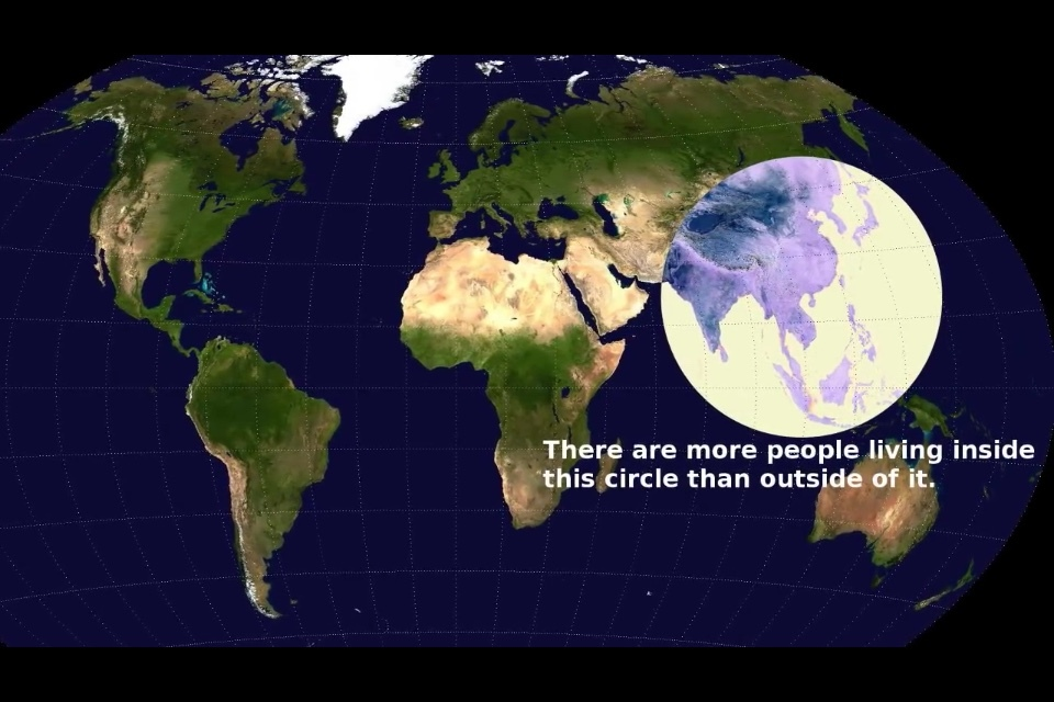 hay más personas viviendo dentro del círculo que fuera :O - meme
