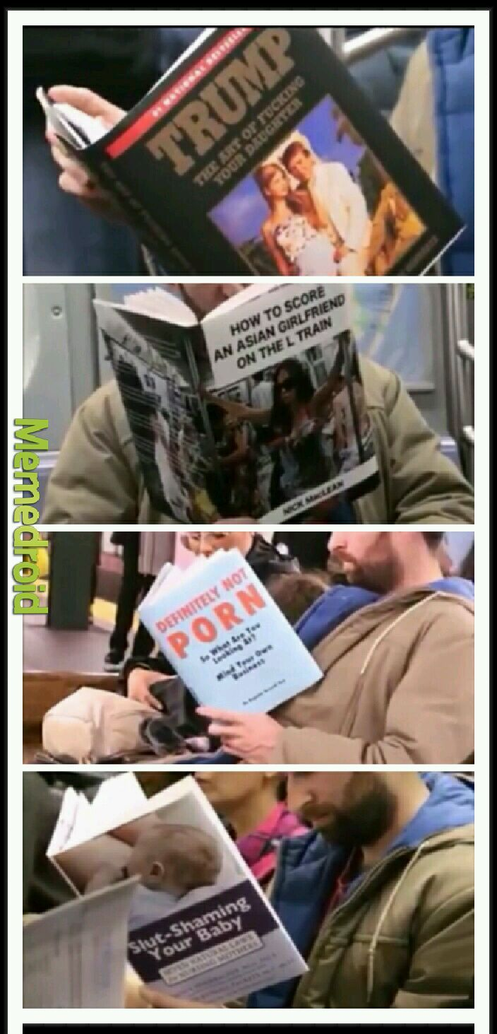 Books on the subway: part one - meme