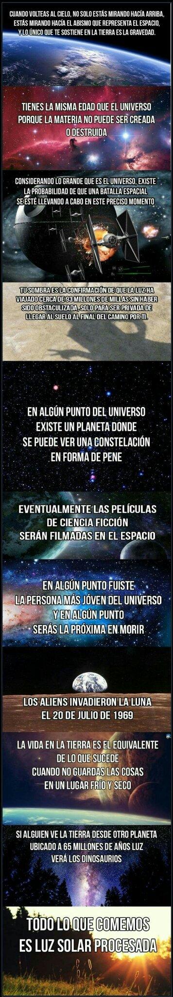 datos curiosos sobre el universo - meme