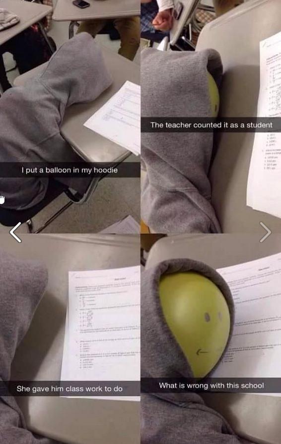 Ballons need education too - meme