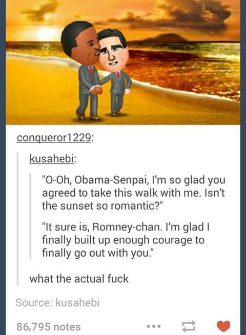 Please be gentle Obama senpai - meme