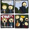 Aragorn s'installa à la Comté et nos quatre héros ne purent jamais détruire l'anneau. A la place on envoya les aigles. Faut pas déconner non plus.