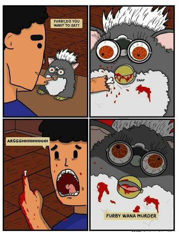 Maldito furby :/ - meme
